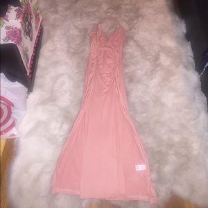 Cute long pink dress
